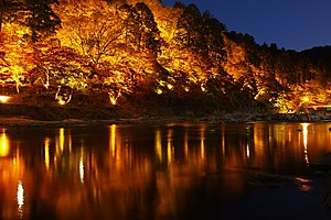 Kourankei was illuminated 香嵐渓のライトアップ - panoramio.jpg