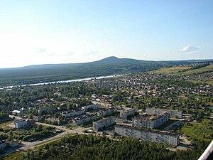 Krasnovishersk - Aerial view of Krasnovishersk