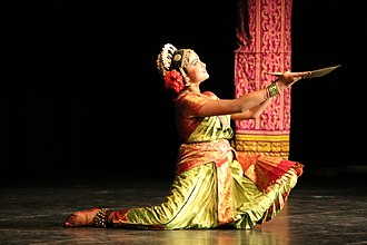 Kuchipudi - Kuchipudi dancer performing a tarangam