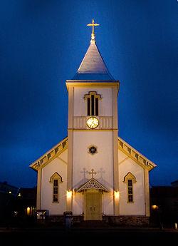 Valdsam storm forstorde kyrka