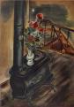 KuniyoshiYasuo-1929-Bouquet and Stove.png
