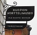 Kuopion korttelimuseo - Old Kuopio Museum - katukyltti - Kirkkokatu 22 - Väinölänniemi - Kuopio.jpg