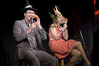 Kurt Braunohler - Braunohler and Schaal on stage at SXSW Comedy Fest, 2010