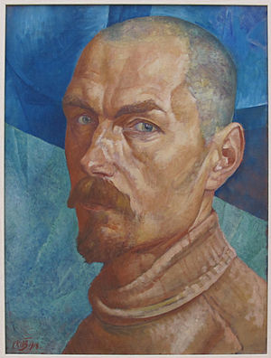 Kuzma petrov-vodkin, autoritratto, 1918.JPG