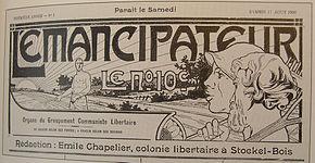 """El emancipador, """"órgano del grupo comunista libertario"""", 11 de agosto de 1906."""
