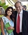 L'attrice Giorgia Fiori insieme all'attore Remo Girone alla 78esima mostra internazionale d'arte cinematografica di Venezia.jpg