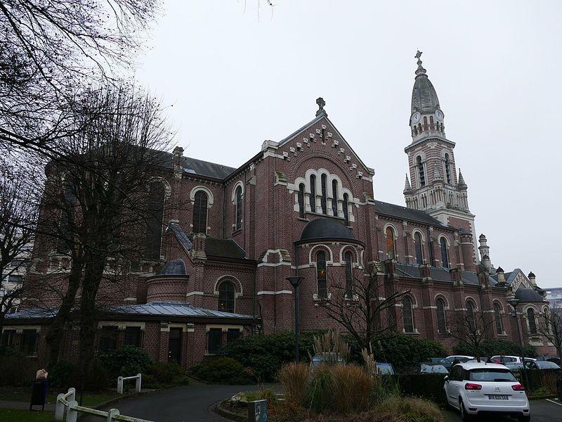 Sainte-Marie-Madeleine's church in La Madeleine (Nord, Nord-Pas-de-Calais, France).