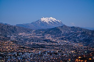 Illimani - The Illimani has become a symbol of La Paz, Bolivia's seat of government