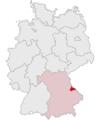 Lage des Landkreises Cham in Deutschland.png