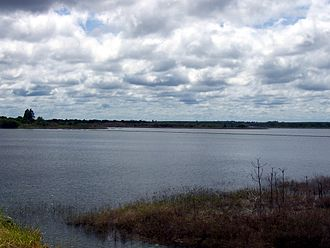 Urugua-í River - Lake Urugua-í, formed by the dam