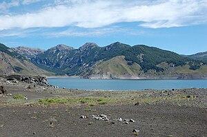 Laguna Laja en Región del Bio Bio, Chile.