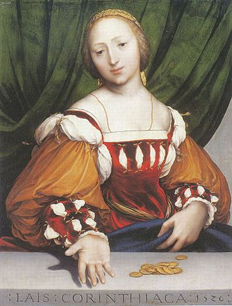 Courtesan - Lais of Corinth by Hans Holbein the Younger, Kunstmuseum Basel