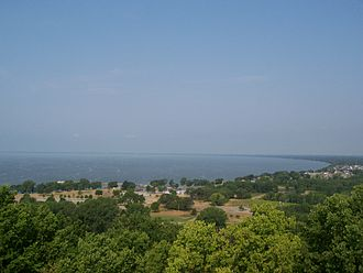 Lake Winnebago - Looking west at the north end of Lake Winnebago from High Cliff State Park