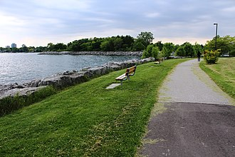 New Toronto - Colonel Samuel Smith Park runs along the Toronto waterfront, within the Lakeshore Grounds.