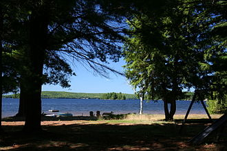 Wawa Hotel - A view of Lake of Bays as seen from the former property of the Wawa Hotel in 2009