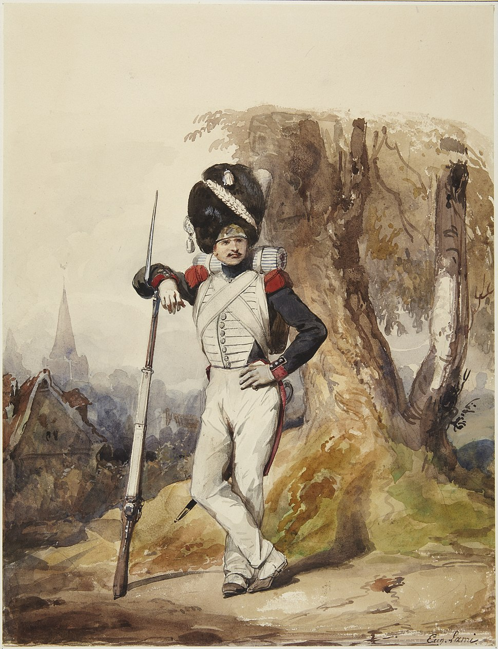 Lami, Eugène Louis, Grenadier of the Royal Guard, ca. 1817