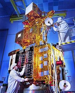 Landsat 7 earth observation satellite