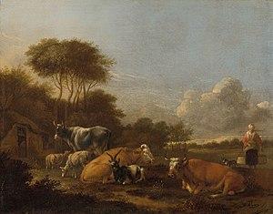 Albert Jansz. Klomp - Image: Landschap met vee Rijksmuseum SK C 162