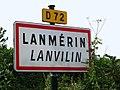 Lanmérin. Panneau d'agglomération.jpg