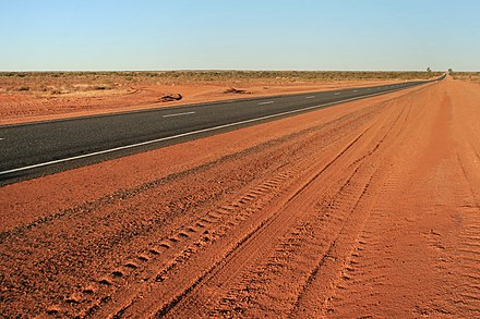 The Lasseter Highway connects Uluru (Ayers Rock) to the Stuart Highway LasseterHighway.JPG