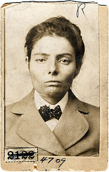Laura Bullion of the Wild Bunch gang, Pinkerton's mug shot, 1893.jpg