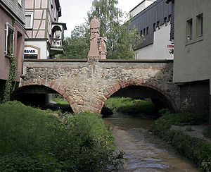 Bensheim - The Winkelbach at the Mittelbrücke