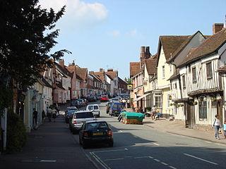 Lavenham village and civil parish in Babergh, Suffolk, England
