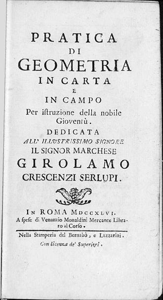 Sébastien Leclerc (1637–1714) - Pratica di geometria in carta e in campo per istruzione della nobile gioventù, 1746