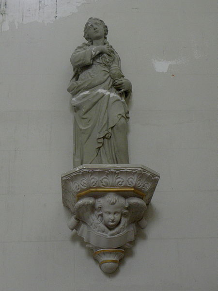 Église Saint-Martin de Le Pas (53). Statue de Sainte-Marie-Madeleine.