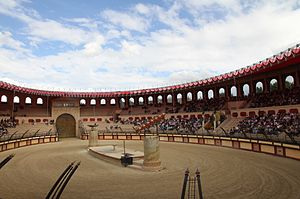 2011 Tour de France - The Roman amphitheatre at the Puy du Fou theme park hosted the team presentation ceremony on 30 June.