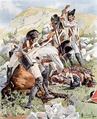 Le lieutenant Niegolewski blessé par des soldats espagnols à Somosierra, le 30 novembre 1808.png
