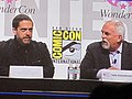 Lee Unkrich & John Ratzenberger at WonderCon 2010 3.JPG