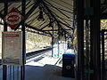 Leeland Road VRE Station; DC-Bound View; VRE Sign.JPG