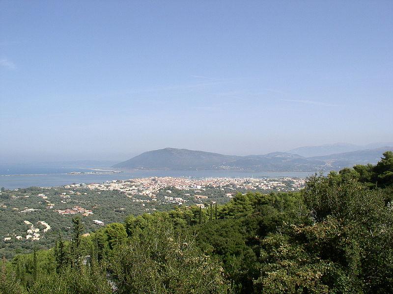 Vista de la isla de Lefkada