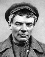 Lénine en 1917, lors de sa fuite en Finlande