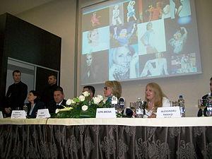 Lepa Brena - Press conference in Romania, March 2012