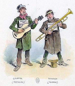Les deux aveugles - Berthelier and Pradeau, 1855