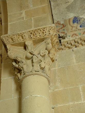 Lescar Cathedral - Image: Lescar Catedral Capitel 1