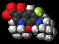 Levofloxacin zwitterion spacefill.png