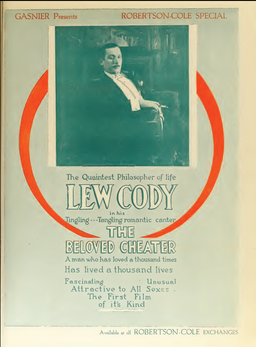Lew Cody The Beloved Cheater 1 Film Daily 1919