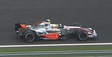 Photo de la McLaren MP4-22 de Lewis Hamilton