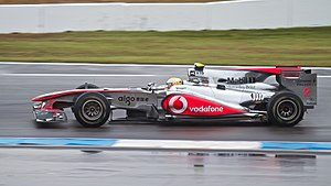2010 German Grand Prix - Lewis Hamilton crashed in the first practice session.