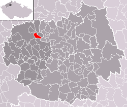 Location of Lhotka nad Labem