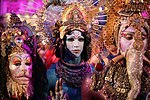 Life Ball 2013 - magenta carpet Celestial Tableau by Darrell Thorne and The Gods 04.jpg