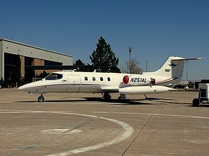 2012 Mexico Learjet 25 crash - A Learjet 25 similar to the crashed aircraft.