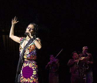 "Lila Downs - Lila Downs in the ""National Sor Juana Festival"" 2007."