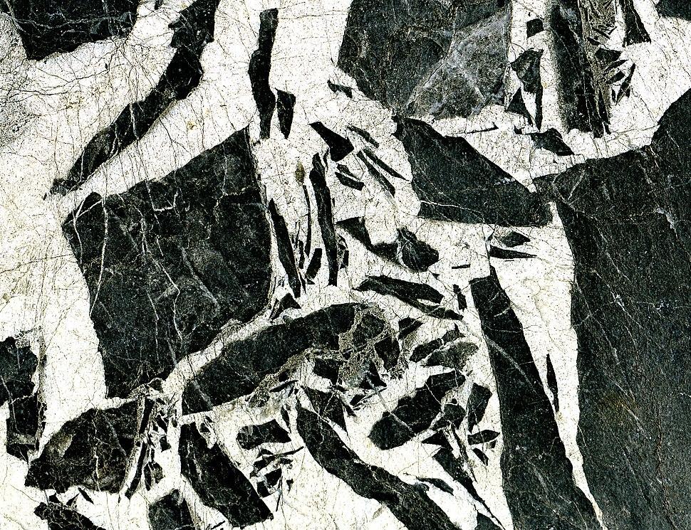Limestone breccia; quarry at Aubert France