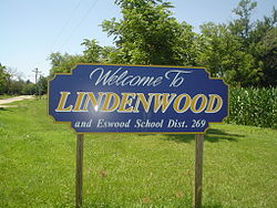 Sign leading into Lindenwood