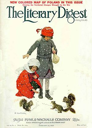 The Literary Digest - Cover of the 19 February 1921 edition of The Literary Digest