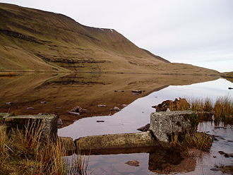 Carmarthenshire - Llyn y Fan Fawr, below Fan Brycheiniog in the Black Mountain
